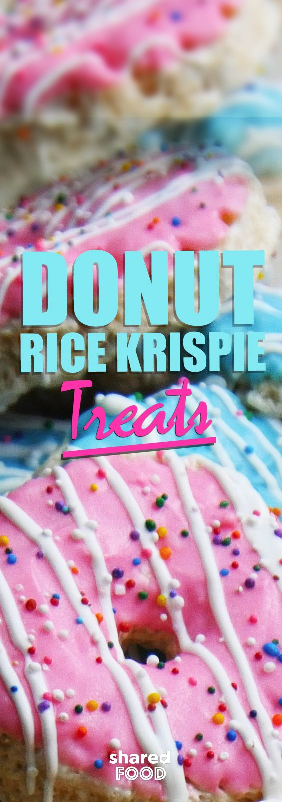 Ok, rice krispie squares + donuts = Donut Rice Krispie Treats! Get the kids to help with this one, decorate a dozen of these anyway you want! All the great taste of rice krispie squares with a visual upgrade!