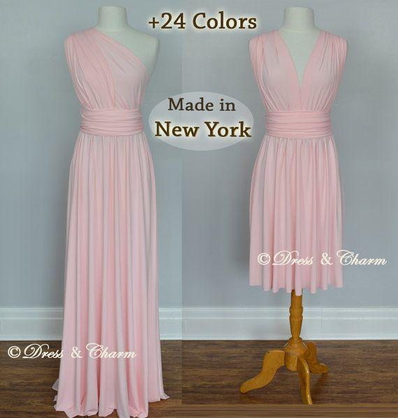 Weiche rosa Brautjungfer Kleid Unendlichkeit von justDressAndCharm