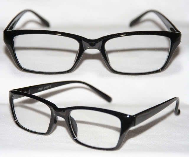 Flache klassische Nerd Brille Klarglas Hornbrille Damen u. Herren schwarz braun in Kleidung & Accessoires, Damen-Accessoires, Sonnenbrillen & Brillen | eBay