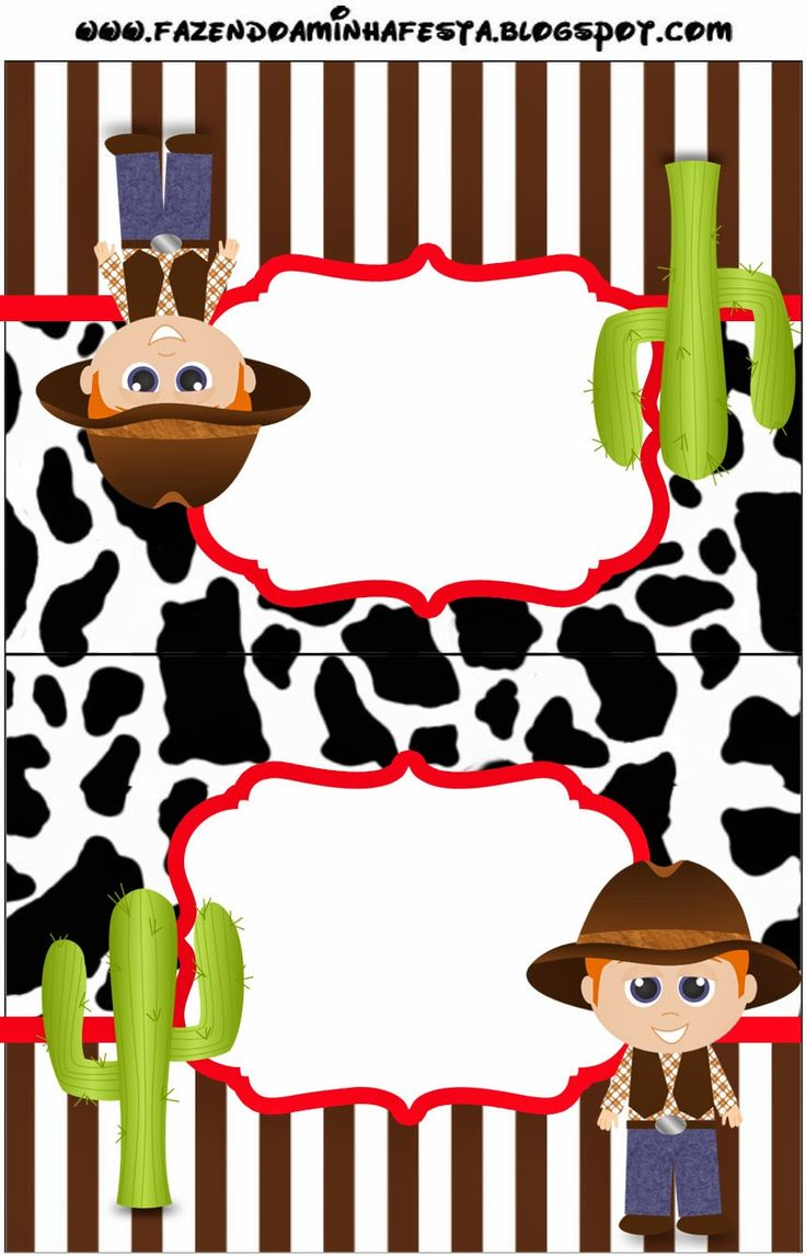 Cowboy or Western Party: Free Party Printables.