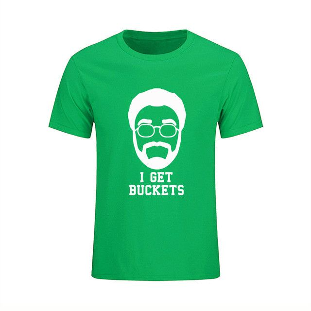 Kyrie Irving Shirt For Men Uncle Drew 100% Cotton Print T-shirt Design Funny Personality Short Sleeve