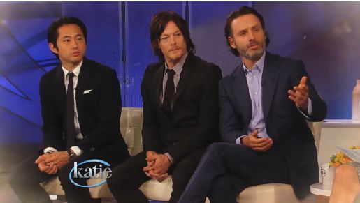 the walking dead cast on katie couric | The Walking Dead': Andrew Lincoln mentions season 4 romance - San ...