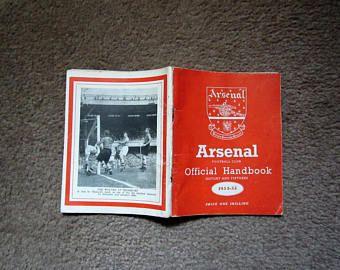 Trend  Arsenal Football Club Original Official Football Soccer Handbook pages Arsenal Highbury Football