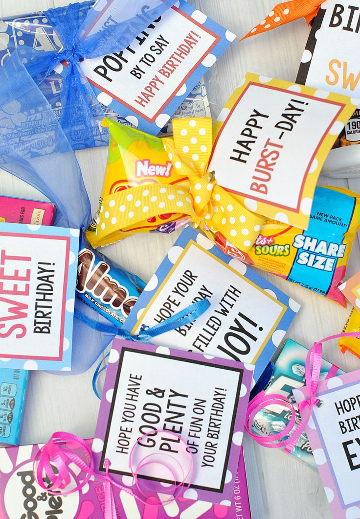 Candy Bar Birthday Tags | Birthday gifts, Birthdays and Gift