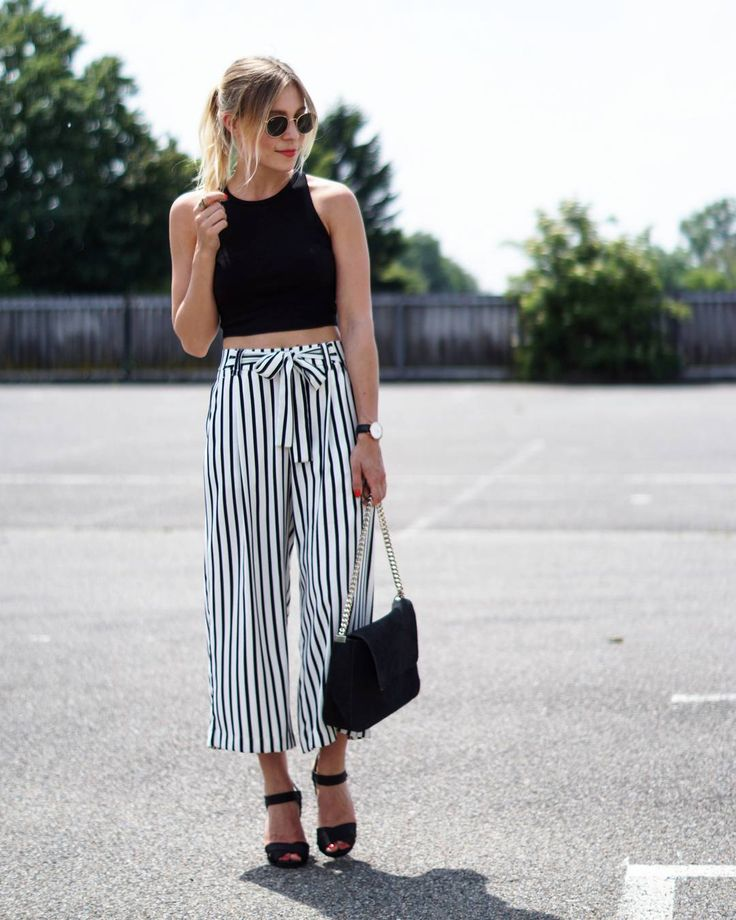 These culottes are amazing! I'd tone it down with flats to be more casual.