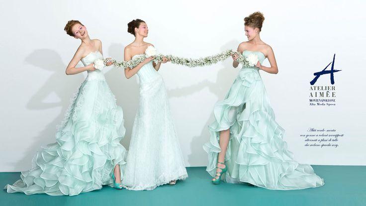 Vi piace il verde?  Pare sia la tendenza per il matrimonio 2013. In tante sfumature ma quello che pare sia il più gettonato è il verde menta. Voi cosa ne pensate?