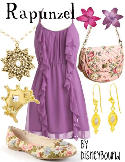 Let down your hair and have fun in a Rapunzel outfit.  | Disney Fashion | Disney Fashion Outfits | Disney Outfits | Disney Outfits Ideas | Disneybound Outfits | Disney Princess Outfits |
