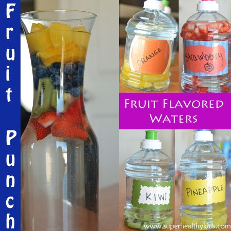 Encourage your kids to hydrate with you as you are bursting your thirst this summer! Stock your fridge with flavored waters and stay away from fruit juices and soda - your kids will have more energy for fun summer activities!