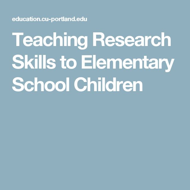 teaching research papers to elementary students A handbook for teachers and students a research project encompasses the collection written and compiled by: of the project and in the teaching of research.