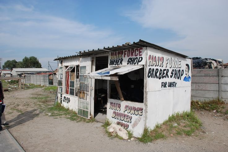Barber shop in Khayelitscha Township, Cape Town
