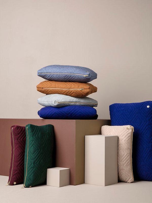 Quilt Cushion - Rose - 40 x 25 2