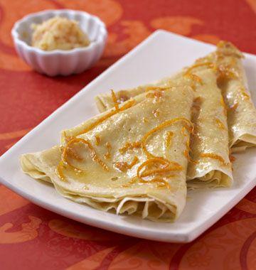 Crêpes suzette, au beurre d'orange - Recettes de cuisine Ôdélices