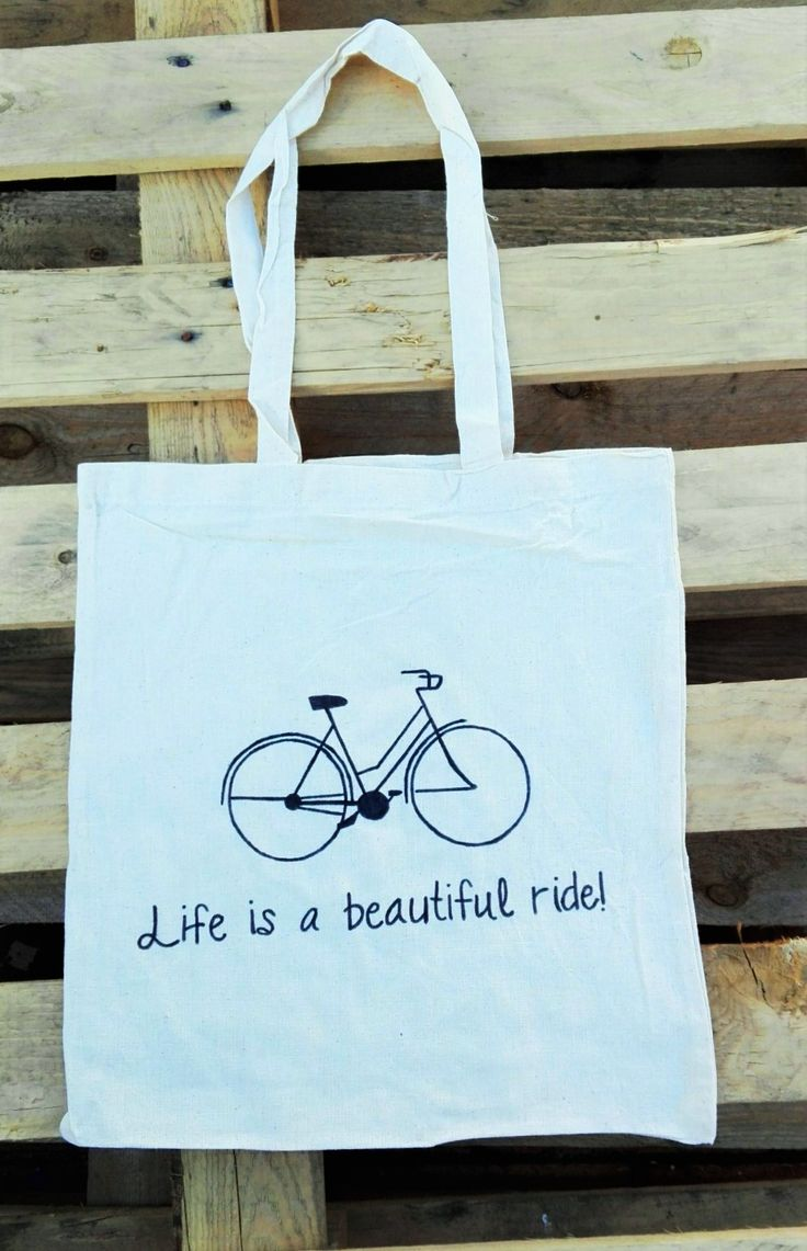 Life Is A Beautiful Ride Cotton Tote :)