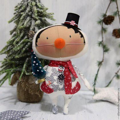 Купить или заказать тильда кукла в интернет-магазине на Ярмарке Мастеров. Новогодний Тильда малыш снеговичок, прекрасный подарок для любого ценителя душевных игр…