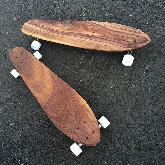 Custom Wood Skateboard Longboard Solid Walnut by NaCoilleStudio $225 with shipping