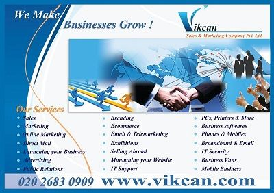 An snapshot of various services required for any business to grow and establish into the market are listed here.
