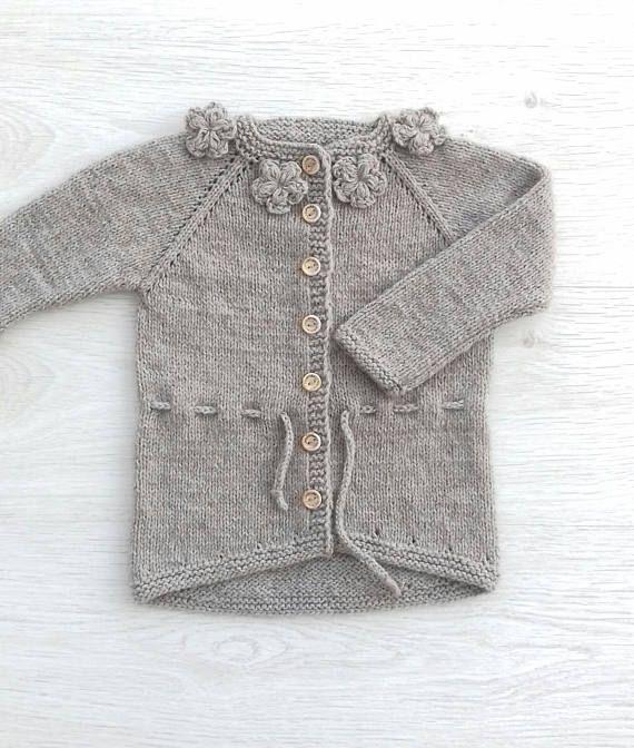 4ebcf8966 Baby girl flower sweater