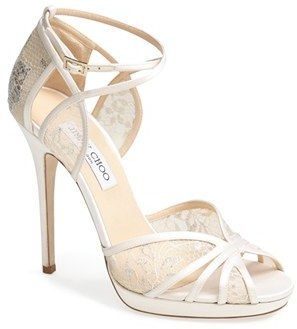 Jimmy Choo 'Fayme' Lace Platform Sandal