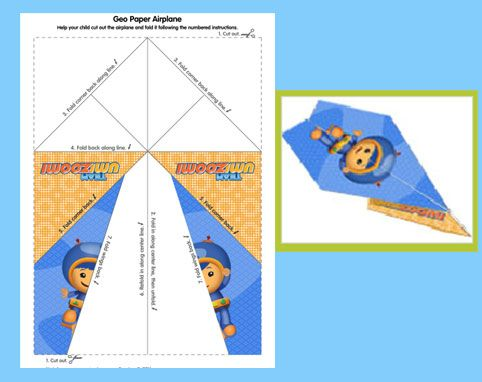 Make a Geo from Team Umizoomi paper airplane!
