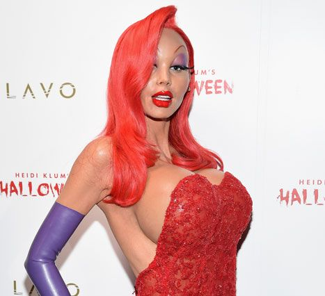 Heidi Klum Dresses as Jessica Rabbit for Annual Halloween Party - Us Weekly