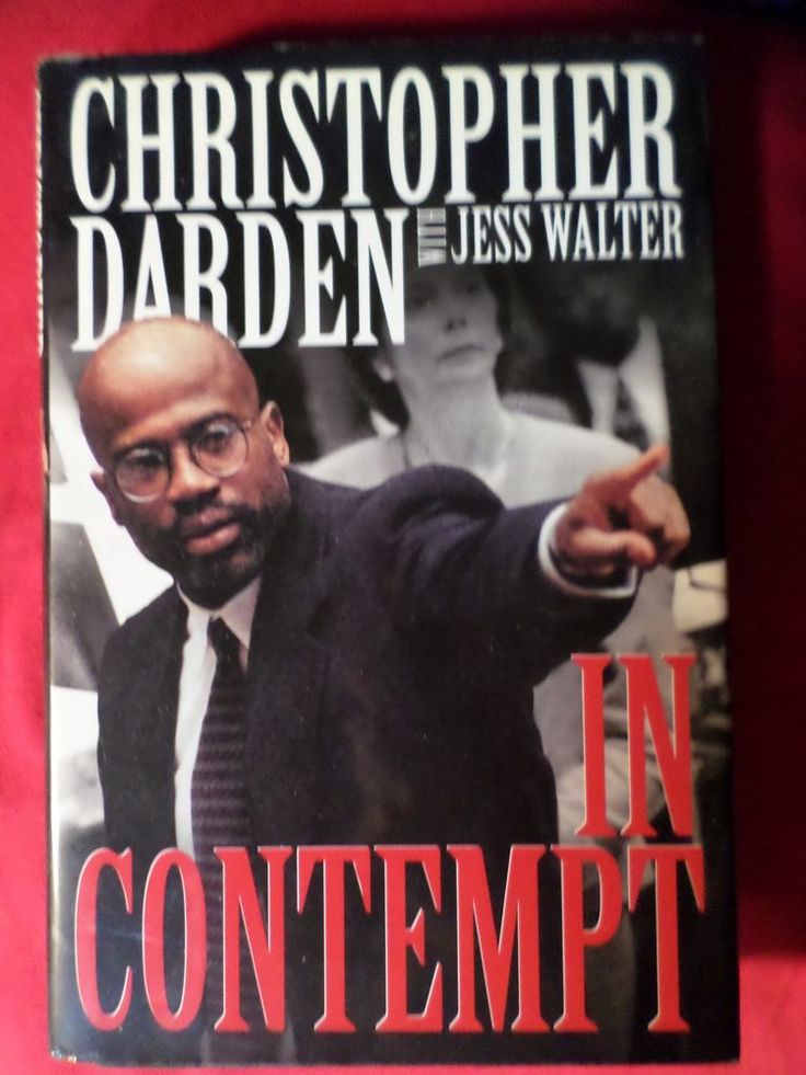 IN CONTEMPT CHRISTOPHER DARDEN JESS WALTER HARDCOVER BOOK 1ST EDITION/5TH PRINT