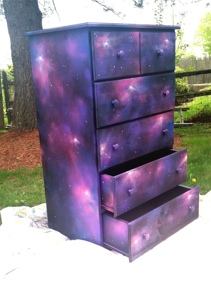 Galaxy Dresser - this would look great on the IKEA Moppe drawers!