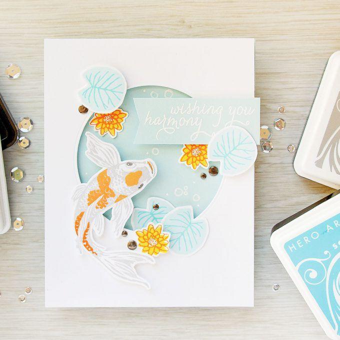 Hero Arts | Color Layering Koi Fish - Wishing You Harmony Card