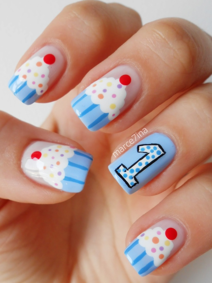 cupcake nails...would only do one cupcake nail...lose the 1
