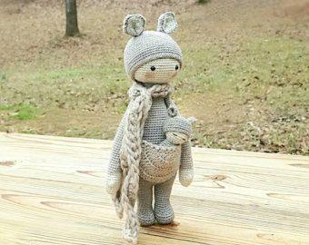 KIRA le kangourou  lalylala patron au crochet / amigurumi