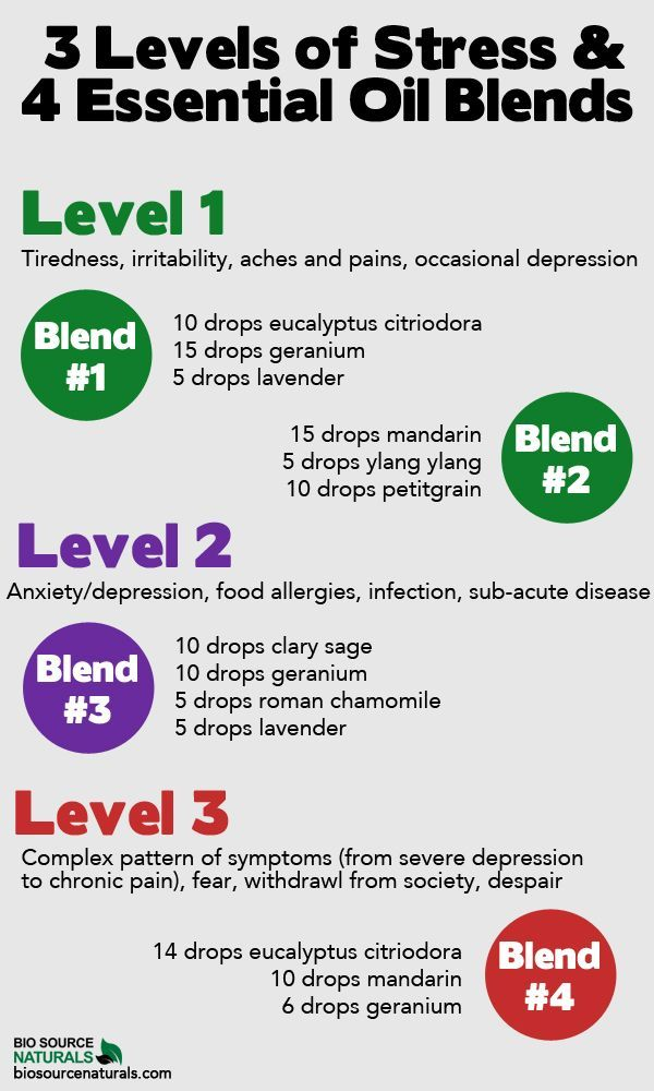 These four essential oil blends correlate to particular levels of stress—find what works for you! #aromatherapy: