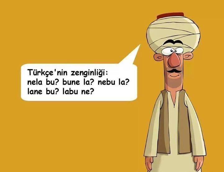 Türkçe'nin zenginliği..