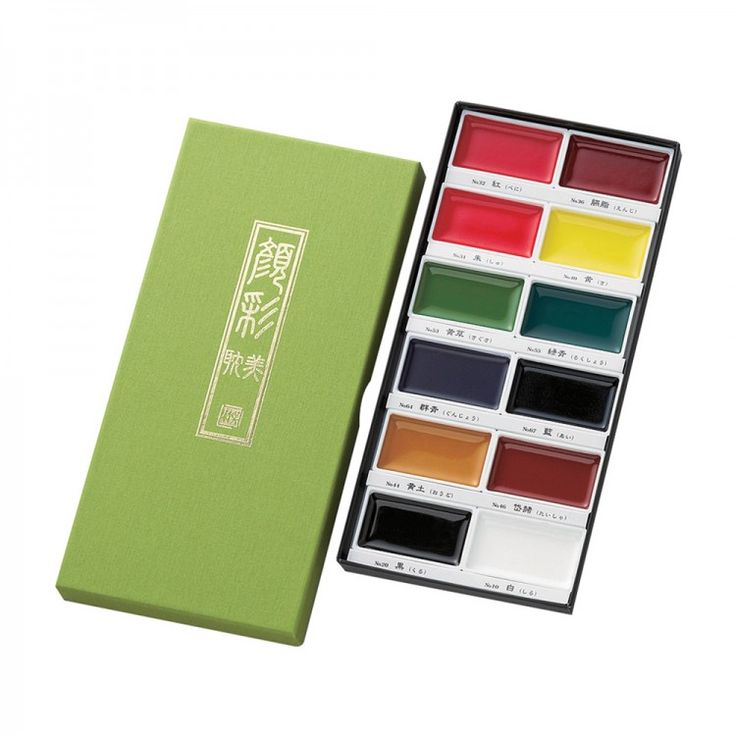 This Kuretake-Gansai Tambi Watercolour set is filled with traditional Japanese watercolours for professional artists and crafters alike. These extra large pans (4.5 x 2.5cm) are ideal for sketching, illustration, sumi-e, manga, calligraphy and more.