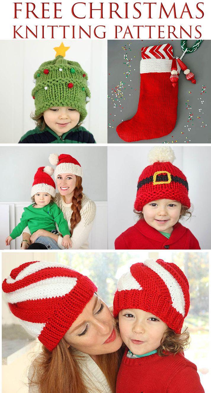 Free Christmas Knitting Patterns. Beginner friendly!
