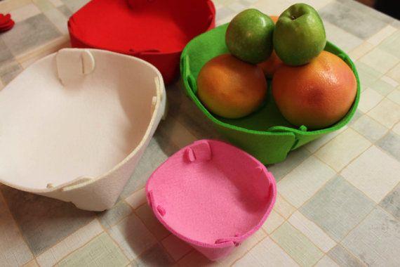 Smart Multi - Function Felt Bowl Basket Placemats Coasters Case