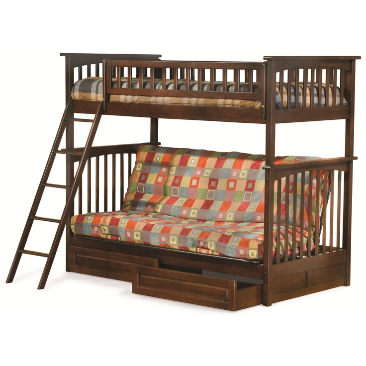 antique walnut columbia bunkbed twin   full futon w  2 drawers 223 best zach u0027s bedroom ideas images on pinterest   3 4 beds      rh   pinterest