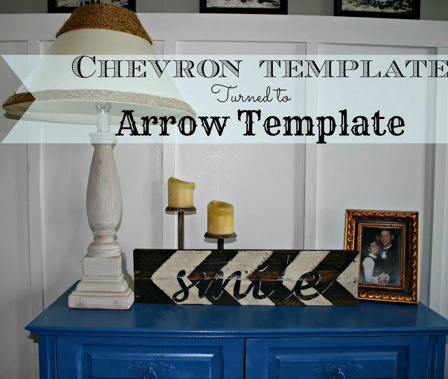 Colors Mixed Together: Chevron Template Turned into Arrow Template