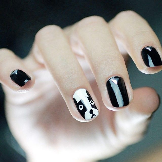 Uñas decoradas inspiradas en perritos - Dog Nail Art Design