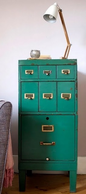 how perfect would a teal file cabinet be
