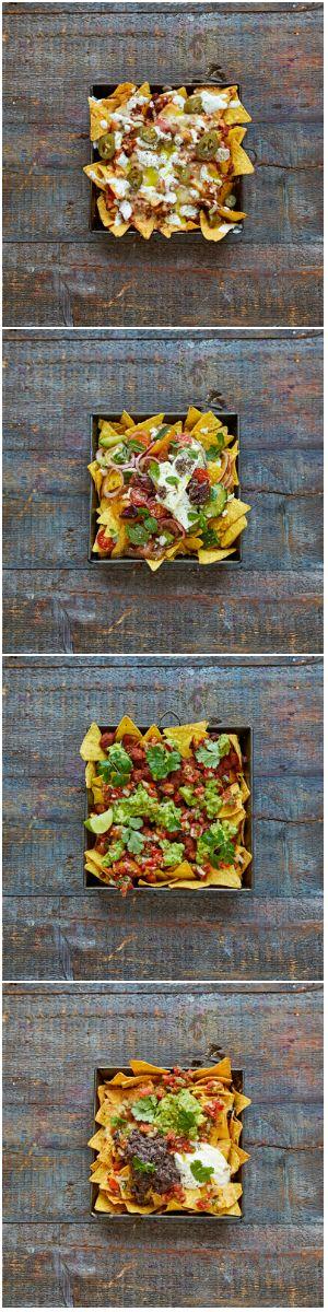 Epic nachos, four ways