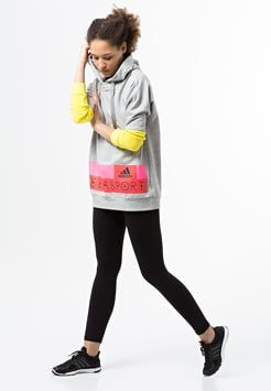 adidas Performance - STELLA SPORT - Sweatshirts - grey/yellow