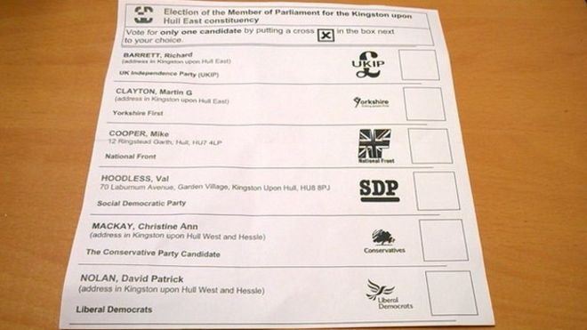 Postal vote: More than 480 postal ballot papers have been sent out without the names of the Green and Labour Party candidates.