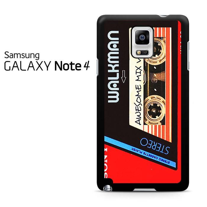 Walkman Awesome Mix Vol 1 Red Tape Samsung Galaxy Note 4 Case