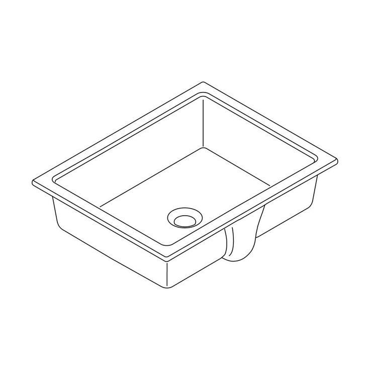 Verticylтў Rectangular Undermount Bathroom Sink K-2882-0 55 best bathroom images on pinterest   bathroom ideas, master