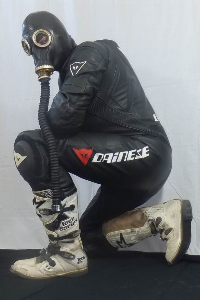 "repsolbrad: ""englishfifer: "" fox-alpha: "" garsdecuir: "" dainese et masque a gaz "" Geil! "" Fukin sweet, hot n horny  "" Agree with englishfifer """