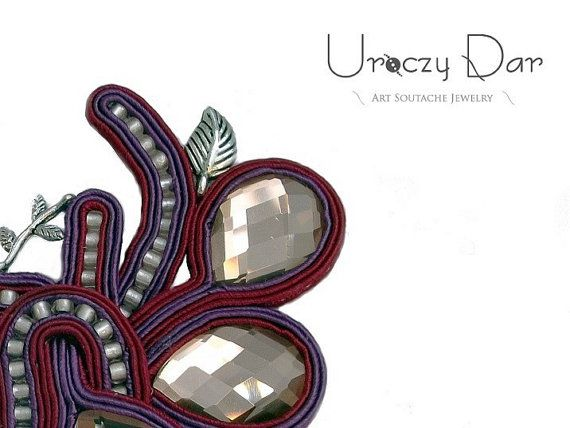 Big art soutache brooch by UroczyDar on Etsy