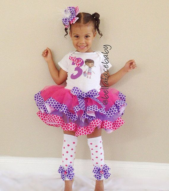 Doc McStuffins Birthday Outfit // Doc McStuffins by bellafacebaby