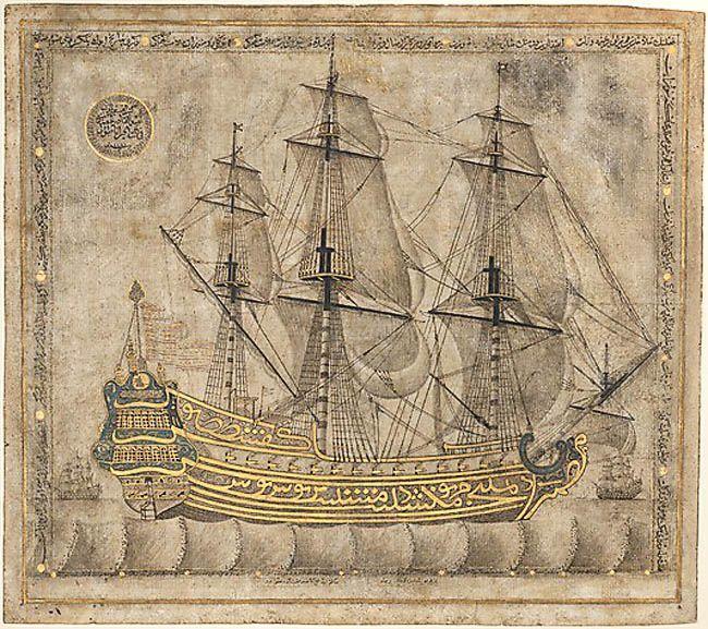 Calligraphic Galleon, Ottoman period