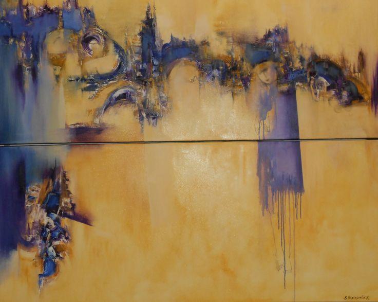 """""""En el País de las maravillas"""" - Silvia Hilerowicz - Oleo sobre tela - Díptico www.esencialismo.com"""