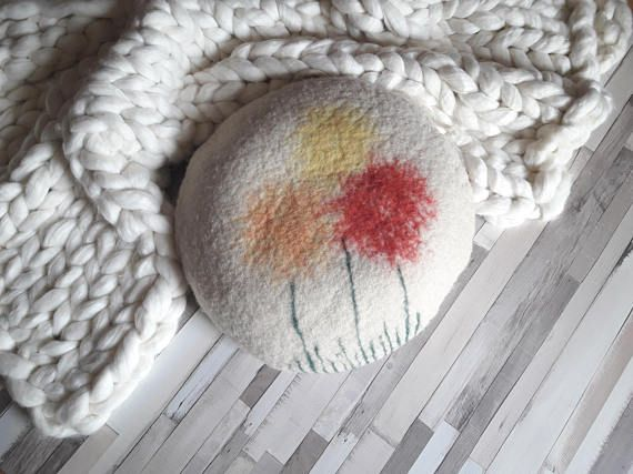 #floorseating  #naturalfibres  #homedecor https://www.etsy.com/listing/276137486/felted-pouf-ottoman-floor-seating
