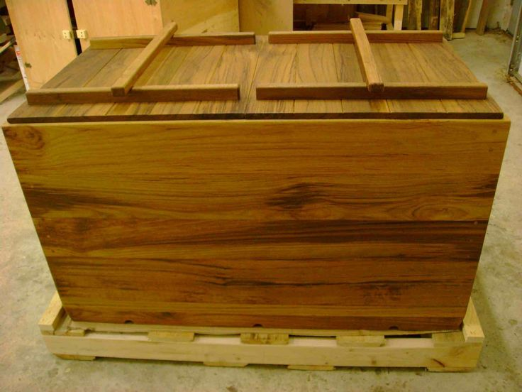Handmade Custom Teak Ofuro by Seaotter Woodworks Inc. | CustomMade.com
